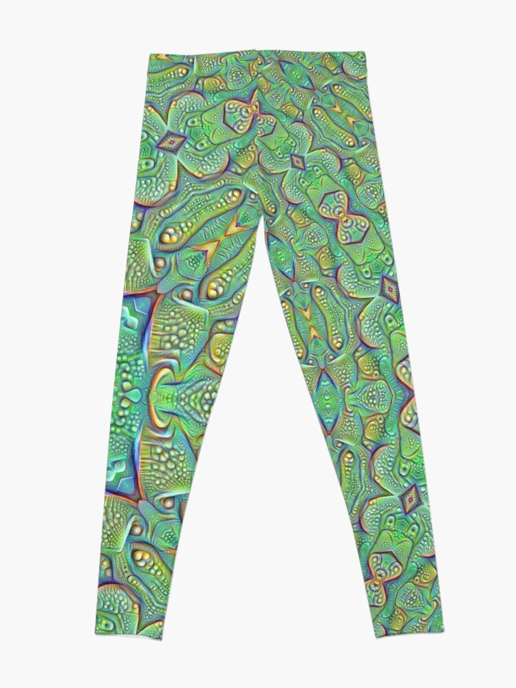 Alternate view of Abstraction #DeepDream Leggings