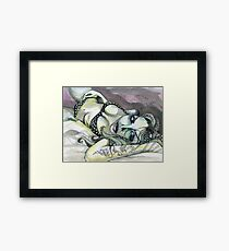 ink & paper Framed Print