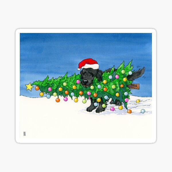 The Christmas Newfie Sticker