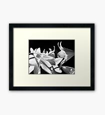 In the shadows #4 Framed Print