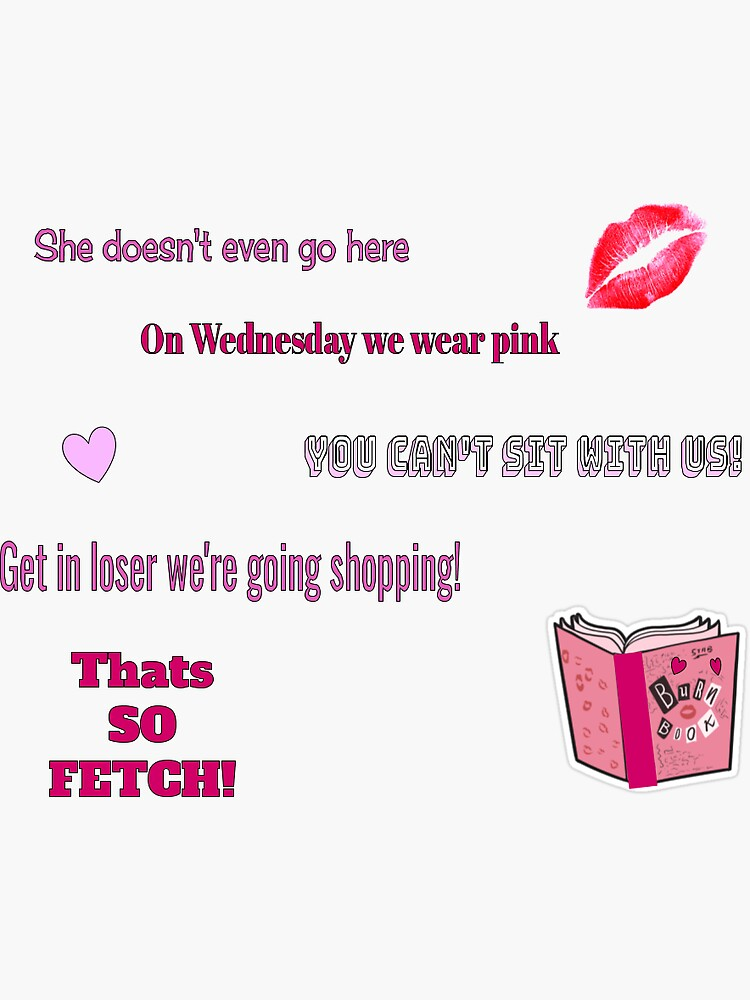 mean girls packet sticker by FunkyStickers4U
