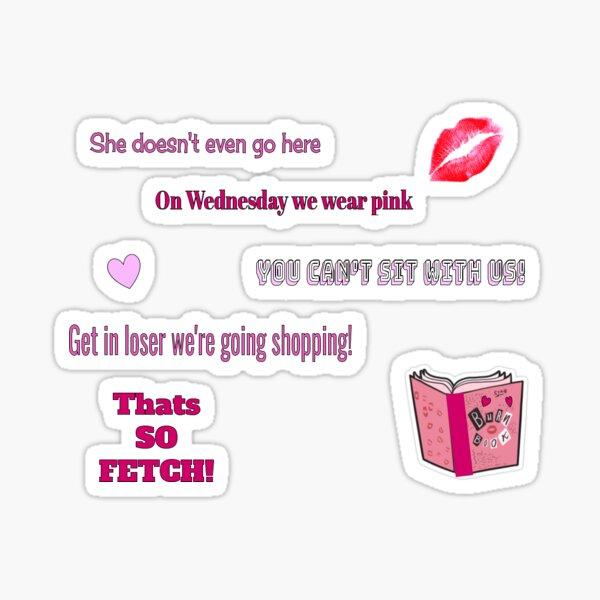mean girls packet sticker Sticker