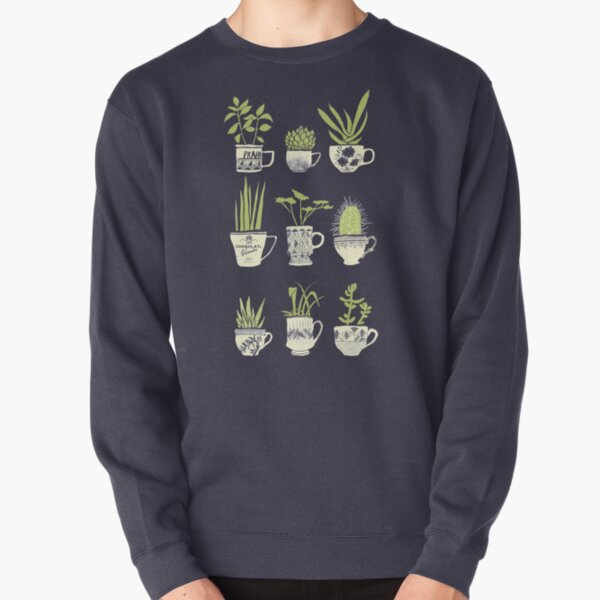 Teacup Succulents Pullover Sweatshirt