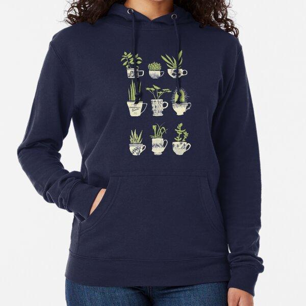 Teacup Succulents Lightweight Hoodie