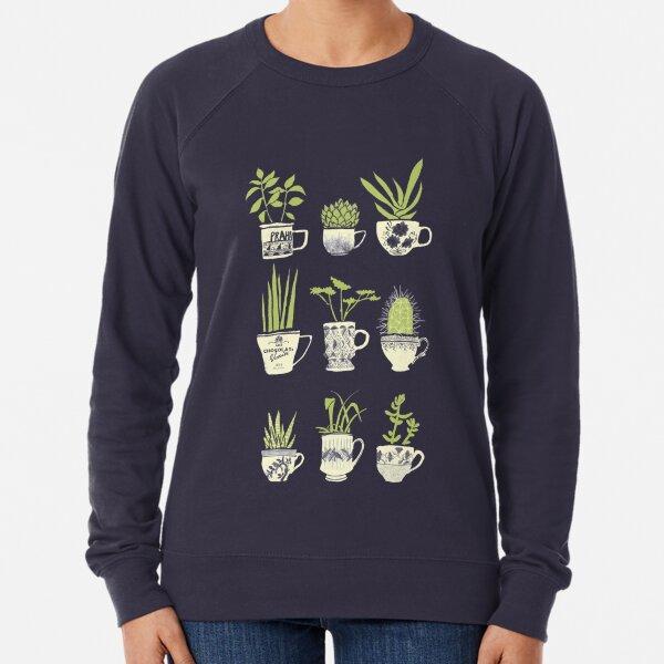 Teacup Succulents Lightweight Sweatshirt