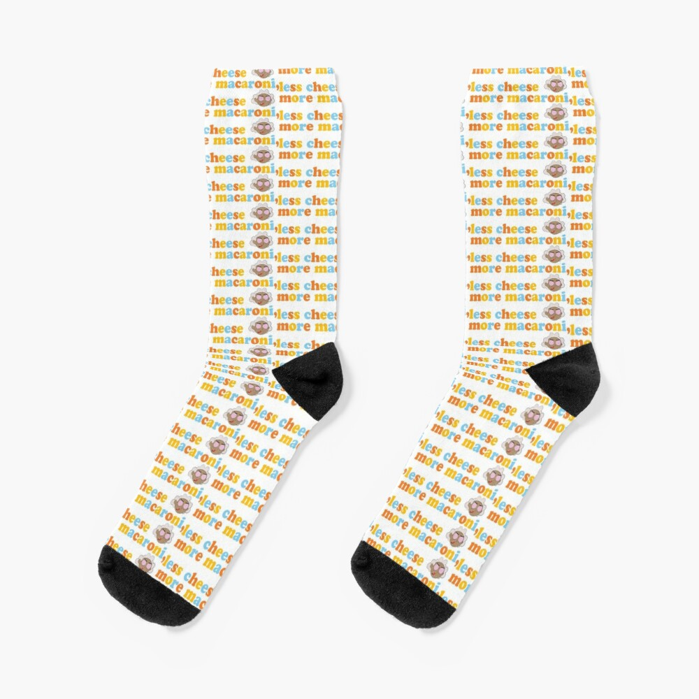 """Courage the Cowardly Dog™ """"More Macaroni, Less Cheese"""" Socks"""