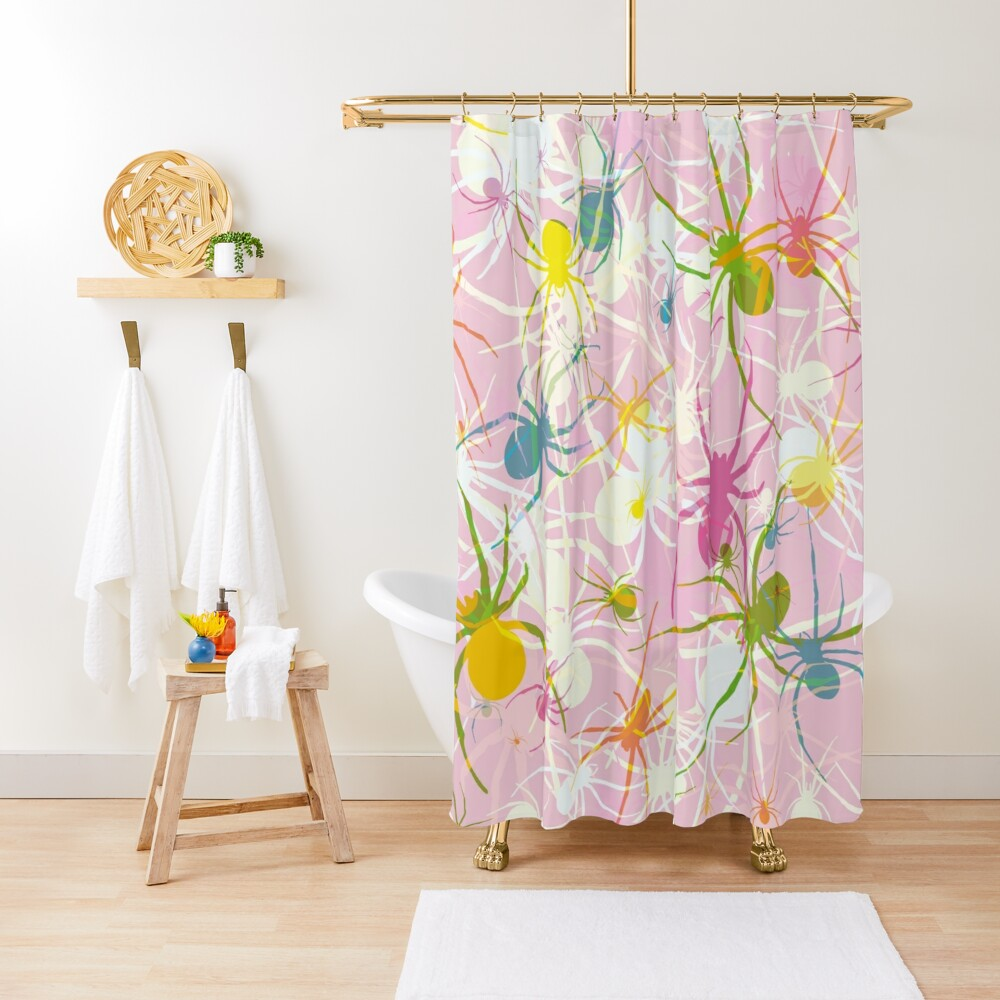 Pink Widow Shower Curtain