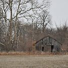 Weathered old wooden barn by mltrue