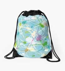 Blue Widow Drawstring Bag