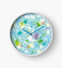Blue Widow Clock