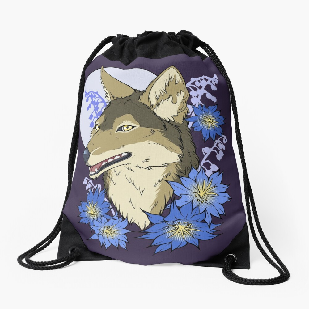Jackal Moon  Drawstring Bag