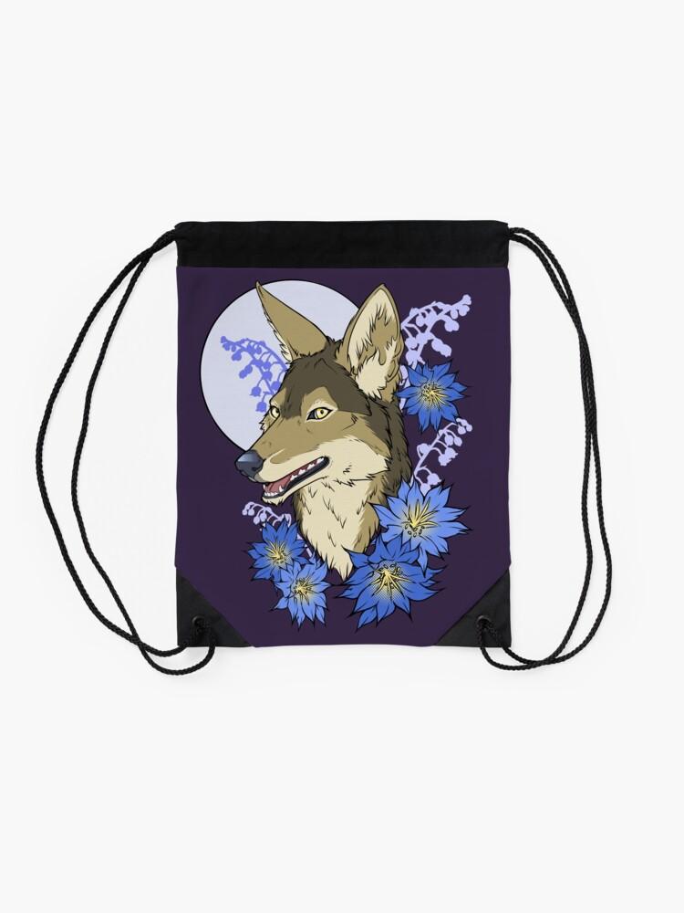 Alternate view of Jackal Moon  Drawstring Bag