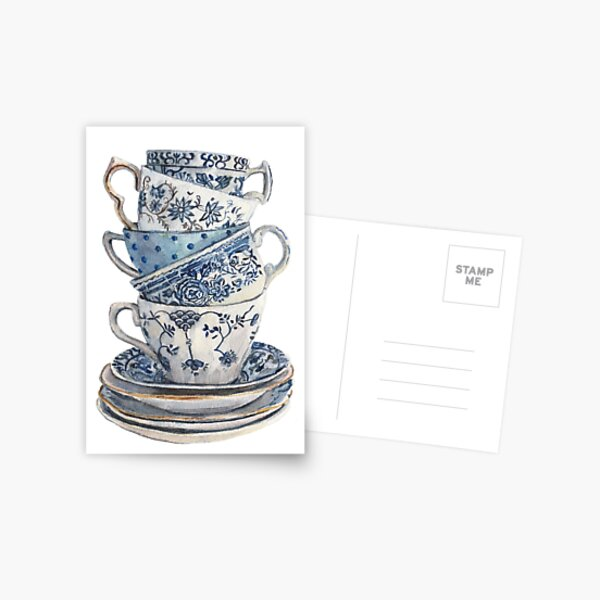 Blue China Postcard