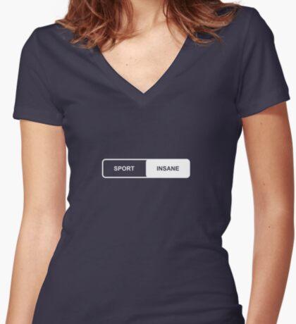 Sport   Insane - Tesla Women's Fitted V-Neck T-Shirt