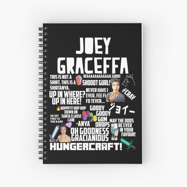 Classic Joey Graceffa Montage Spiral Notebook