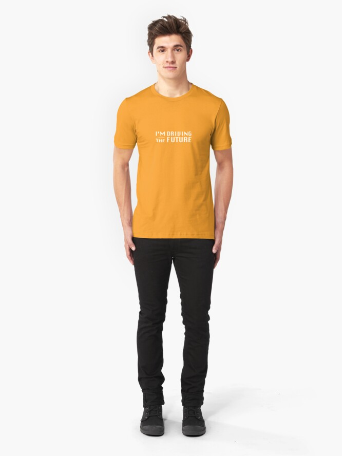 Alternate view of I'm Driving The Future - Model S Slim Fit T-Shirt
