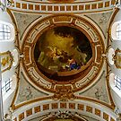 Ceiling fresco in monastery church Elchingen Bavaria Germany by Elzbieta Fazel