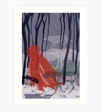 A walk with Wolves Art Print
