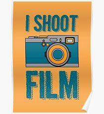 I Shoot Film - Vintage Camera Design Poster