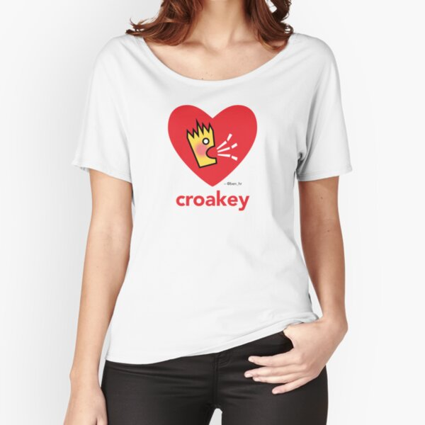 Croakey signature graphic - Croakey Love Relaxed Fit T-Shirt