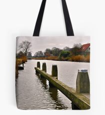 The pier in the channel Tote Bag