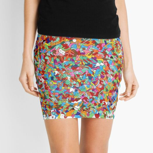 Maniacally Discombobulated - Stream of Consciousness Series Mini Skirt