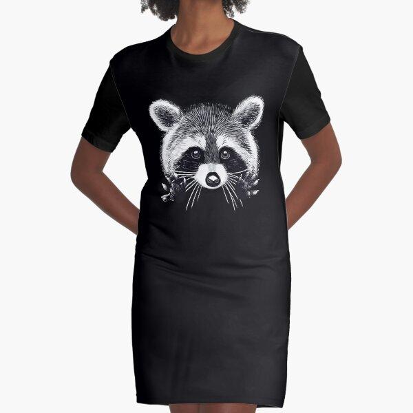Little raccoon buddy Graphic T-Shirt Dress