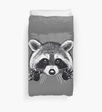 Little raccoon buddy Duvet Cover
