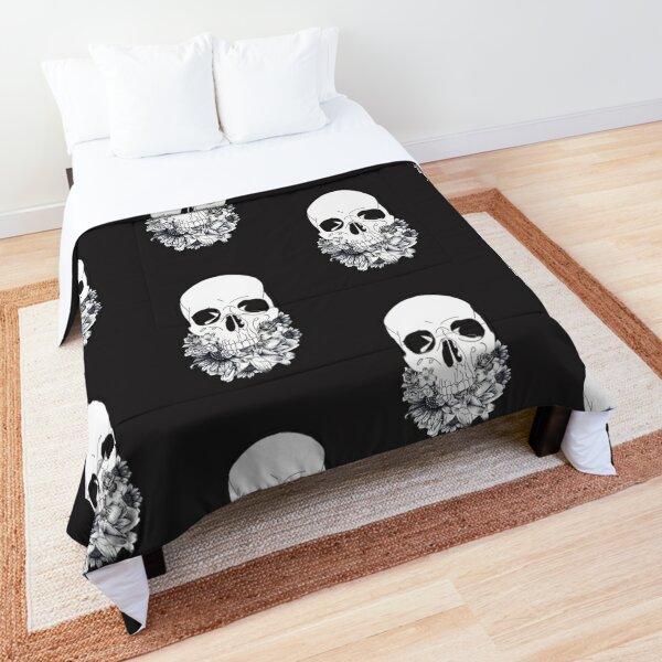 Floral Skull Comforter