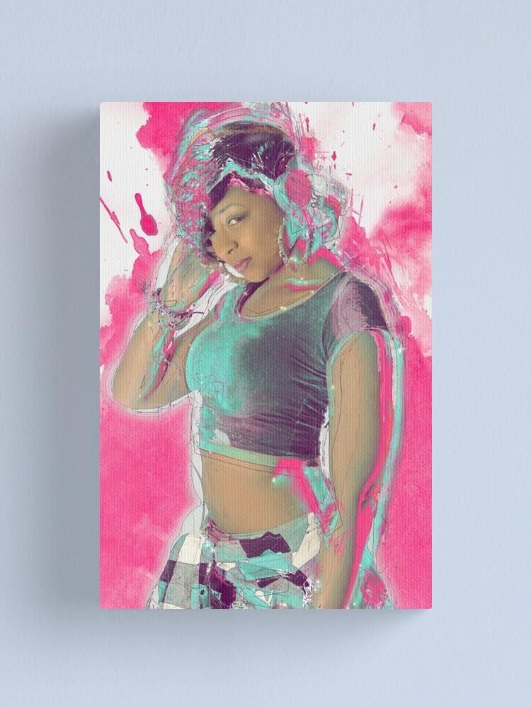 Alternate view of B Girl Canvas Print