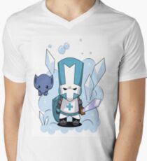castle crashers blue knight Men's V-Neck T-Shirt