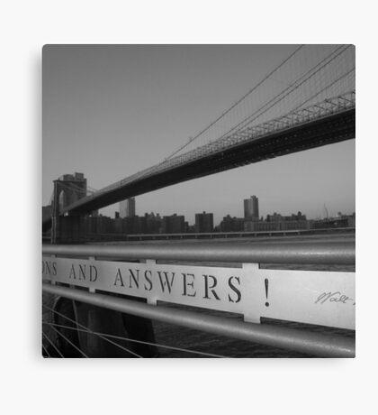 rivers run. dumbo, nyc Canvas Print