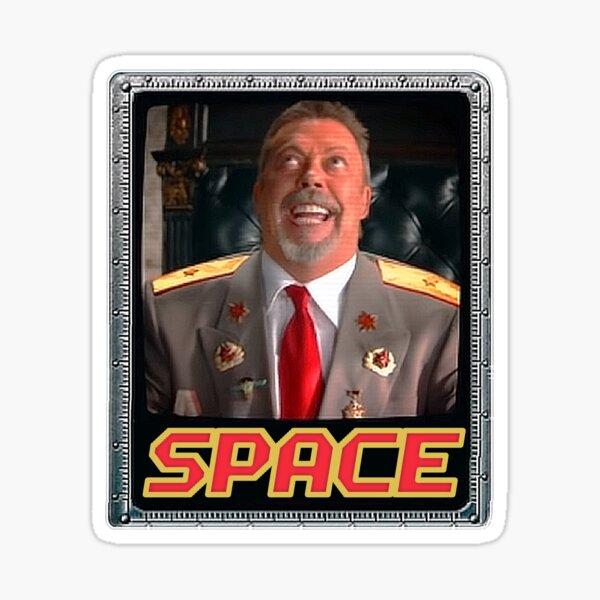Space tim curry meme Sticker
