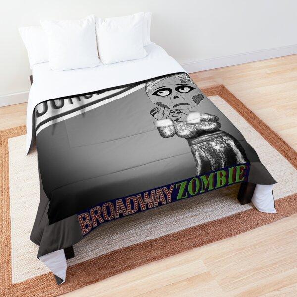 Broadway Zombie Sunset Ghoulevard Theatre Program Comforter