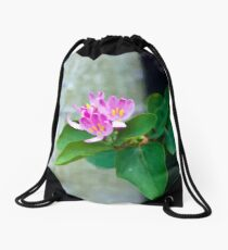 Honey Suckle Blossoms - Digital Oil  Drawstring Bag