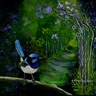 The Garden Path     acrylic painting by sandysartstudio
