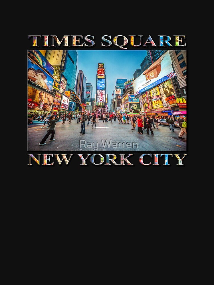 Times Square Sparkle (poster on black) by RayW