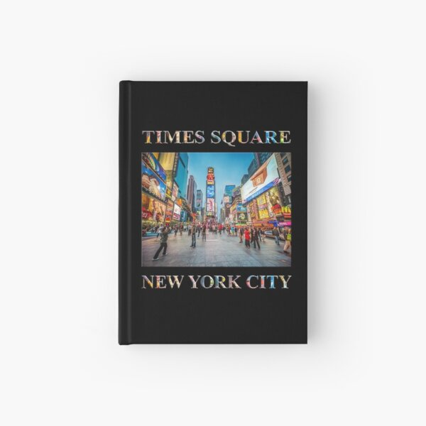 Times Square Sparkle (poster on black) Hardcover Journal