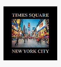Times Square Sparkle (poster on black) Photographic Print