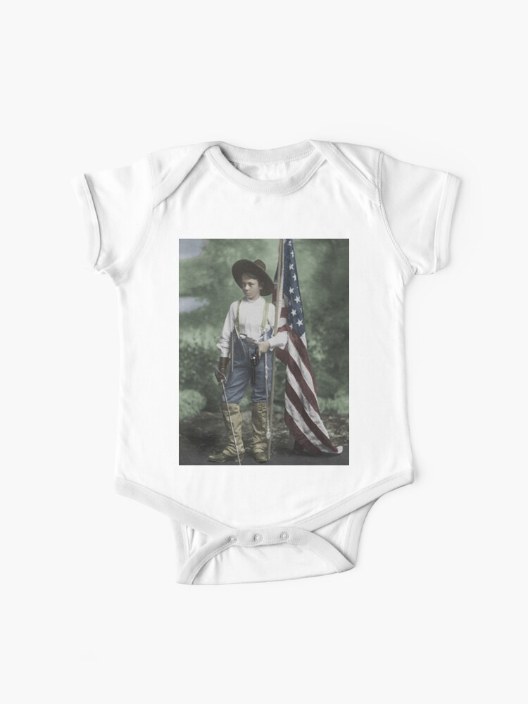 Lacrosse American Flag Short Sleeves T Shirts Baby Boy