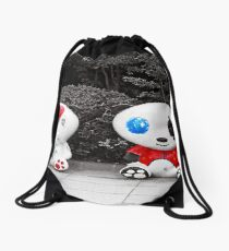 A touch of color Drawstring Bag
