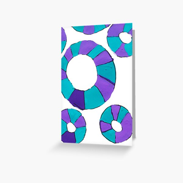 Blue and Purple Circles Greeting Card