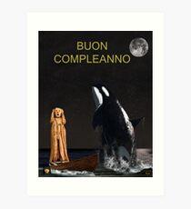 Scream with Orca Italian Art Print