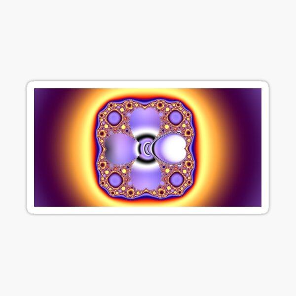Purple Mandelbrot Sticker