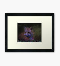 Cunning and Sly Framed Print