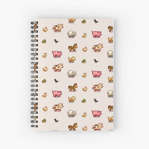 Pixelated Animals Spiral Notebook