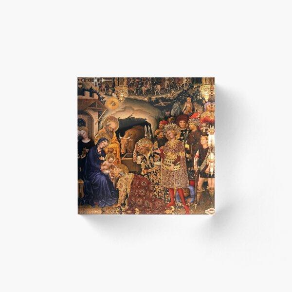 Gentile da fabriano-Adoration of the Magi Acrylic Block