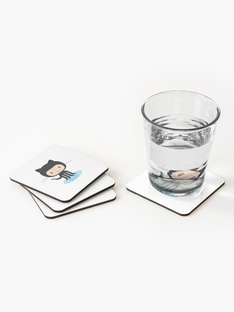 Alternate view of Github Coasters (Set of 4)