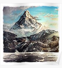 """""""The Lonely Mountain"""" Painting Poster"""