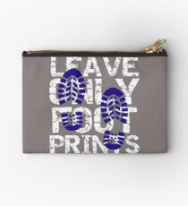 Hiking Leave Only Footprints Don't Litter Zipper Pouch